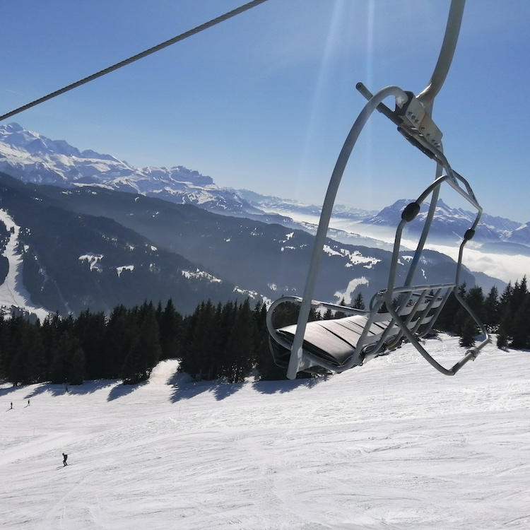 skiing in Morzine in March or April
