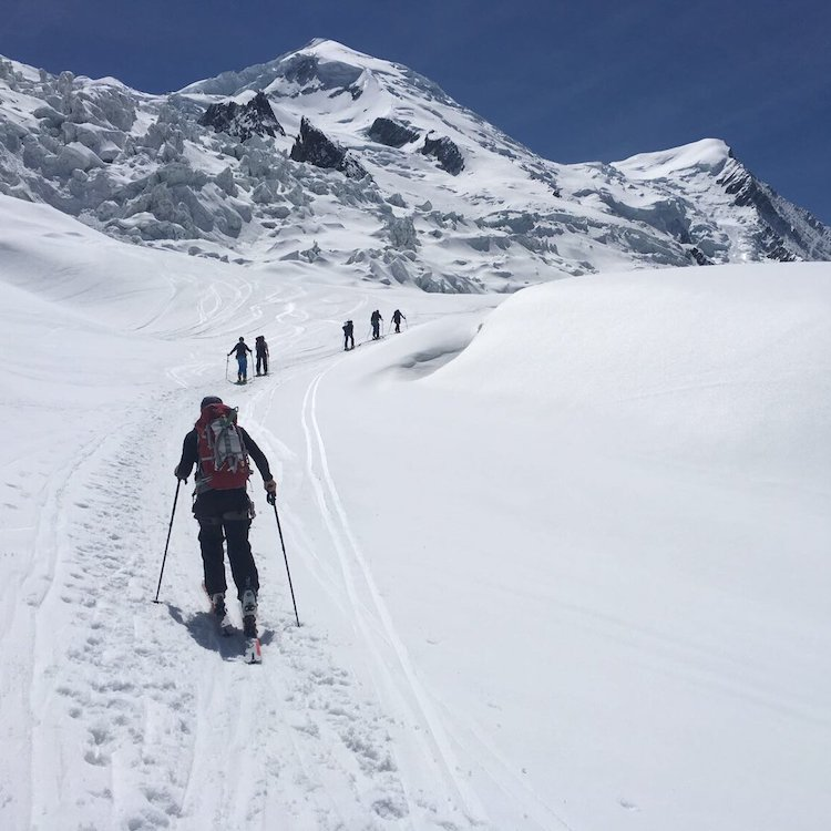 ski touring in Morzine